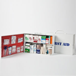 Two-Shelf 50 Person Durable Metal Industrial First Aid Cabinet