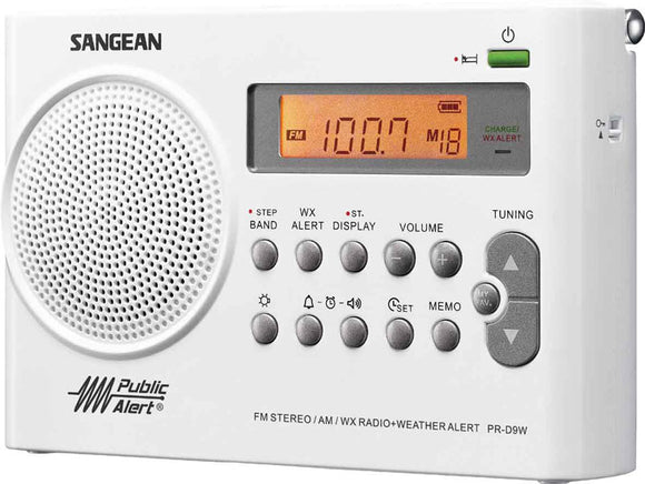 Public Weather Alert Rechargeable Portable Radio See details Public Weather Alert Rechargeable Portable Radio