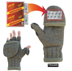 995 - Ragg Wool Heated Pop Top Gloves - Pair