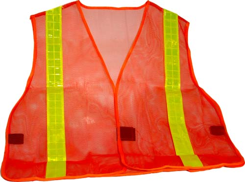 Hi-Vis Orange Safety Mesh Vest