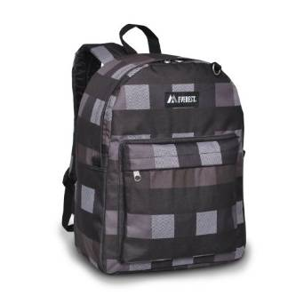 Everest Luggage Classic Backpack - Charcoal Gray Plaid