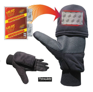 991-BK - Black Heated Pop Top Glove - Pair