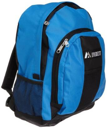 Everest Luggage Backpack with Front and Side Pockets  - Royal Blue/black