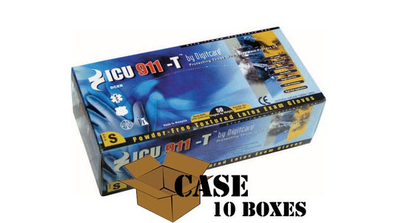 DigiCare - ICU911 High-Risk EMS Latex Gloves - Case