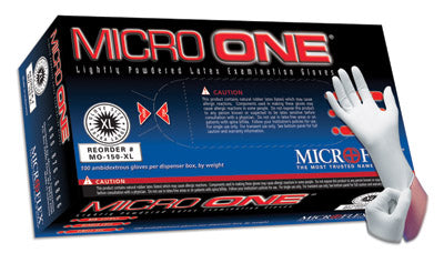 Microflex - Micro One - Lightly-Powdered Latex Gloves - Box