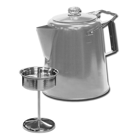 Stainless Steel Percolator Coffee Pot - 28 Cup