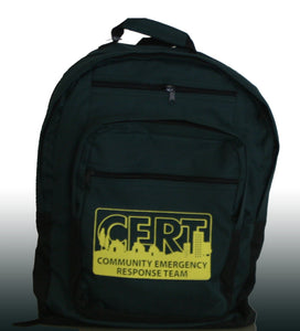 Green Backpack with CERT logo