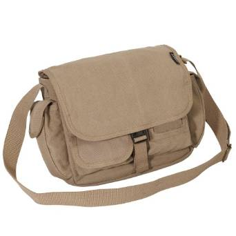 Everest Luggage Canvas Messenger Bag - Khaki