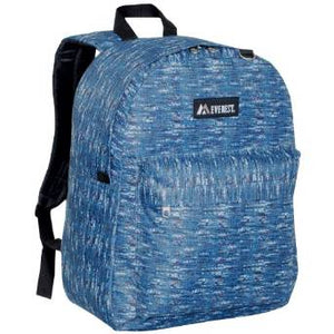 Everest Luggage Classic Backpack - Blue Tweed