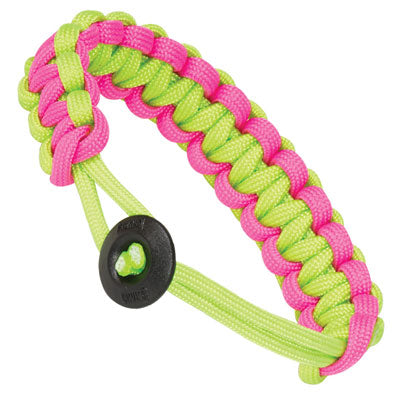 Klondike Adjustable Paracord Bracelet - Neon Green / Pink