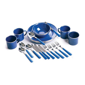 Stansprt Deluxe 24-pc. Enamel Tableware Set