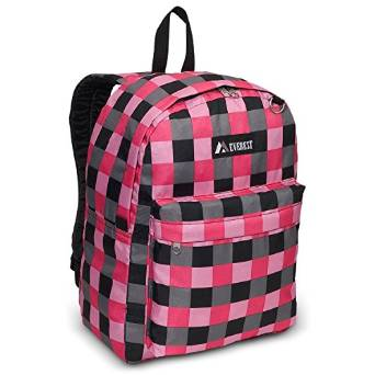 Everest Luggage Classic Backpack - Pink Blod Plaid