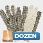 Dozen - Canvas with Dots - Cotton Gloves
