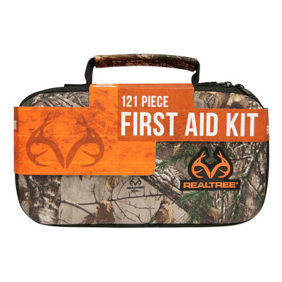Lifeline Realtree Deluxe Hard-Shell Foam First Aid Kit - 121 Piece