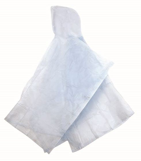 Vinyl Fashion Poncho - 52IN X 80IN - Clear