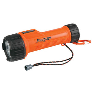 Energizer Orange 2AA LED Industrial Safety Flashlight With Lanyard