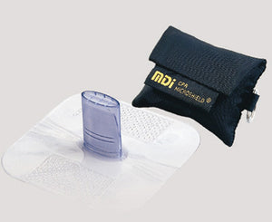 MDI CPR MicroKey Rescue Breather In Black Nylon Case With Attached Keyring