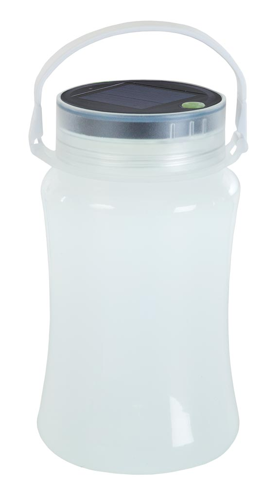 Solar Storage Bottle/ Lantern - White