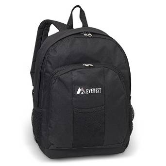 Everest Luggage Backpack with Front and Side Pockets  - ev-bp2072-black