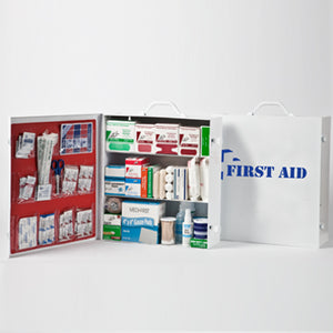 Three-Shelf 100 Person Durable Metal Industrial First Aid Cabinet