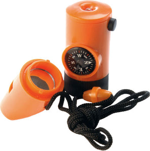 6-in-1 Whistle: Lanyard, Compass, Waterproof Whistle, Thermometer (Celsius) - and more...