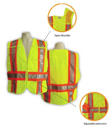 5-Point Breakaway Mesh Safety Vest - Fire Rated