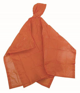 Vinyl Fashion Poncho - 52IN X 80IN - Orange