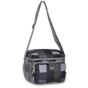 Everest Cooler Lunch Bag - Charcoal/Gray Plaid