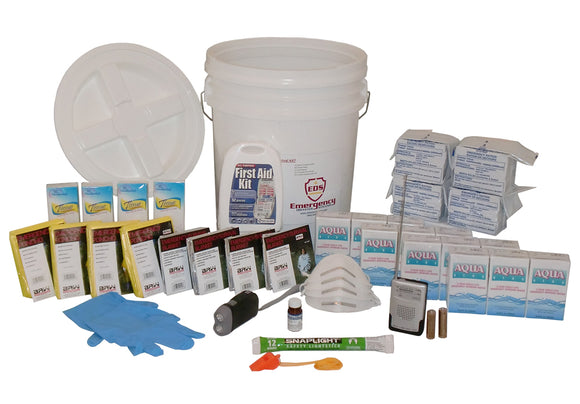 Emergency Survival Bucket Kit - 4-Person / 72-Hour