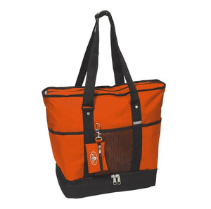 Everest Luggage Deluxe Shopping Tote - Rust Orange/Black