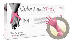 Microflex - ColorTouch Pink Latex Gloves - Box