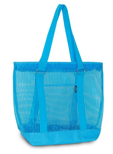 Everest Mesh Shopping Tote  - Blue