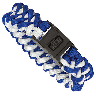Rainier Paracord Bracelet - Royal Blue / White