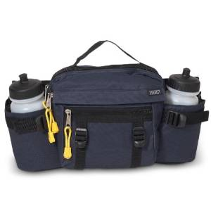 Lumbar Waist Pack - Holds Two Water Bottles - Navy