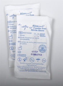 "Aloetouch Sterile Nitrile Exam Powder Free Gloves - 12"" - Case"