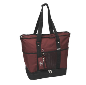 Everest Luggage Deluxe Shopping Tote - Burgundy/Black