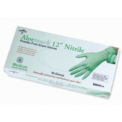 "Medline Aloetouch 12"" Nitrile Exam Gloves"