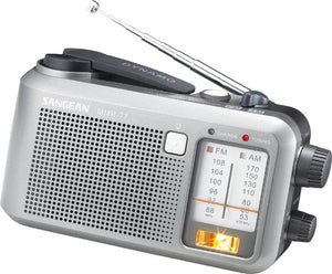 Pocket AM/FM Multi-Powered Water-Resistant Radio