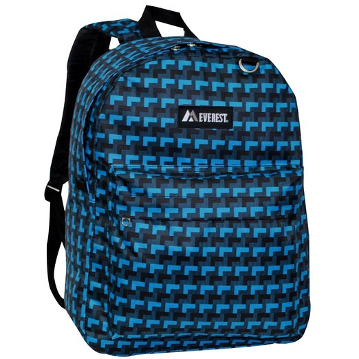 Everest Luggage Classic Backpack - Blue Steps