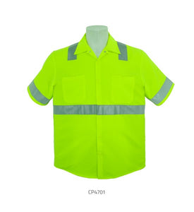 3A Short Sleeve HiViz Button Down work shirts