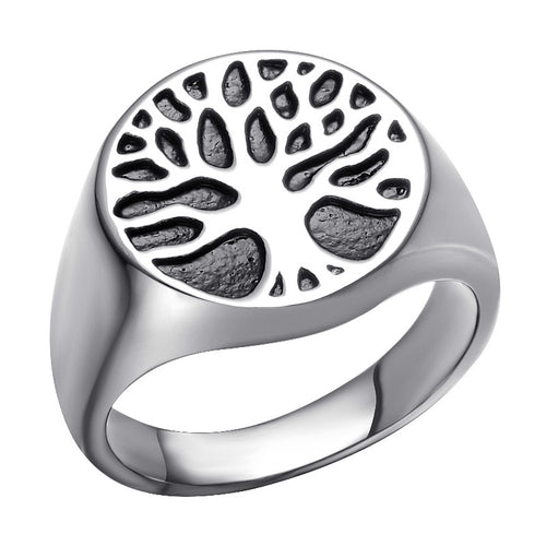 Tree of Life Stainless Steel Men's Ring