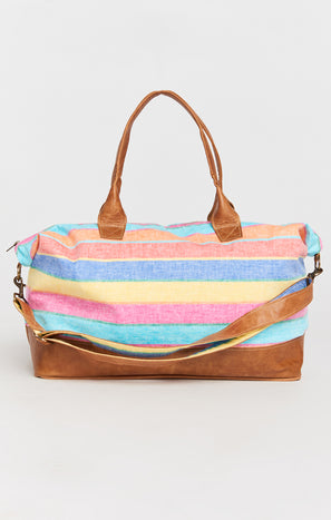 Mumu x Veeshee Weekender Bag ~ Rainbow Stripe