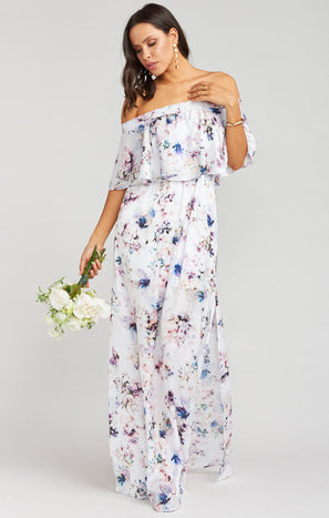 Hacienda Maxi Dress ~ Bouquet Beauty