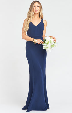 Morgan Gown ~ Rich Navy Stretch Crepe