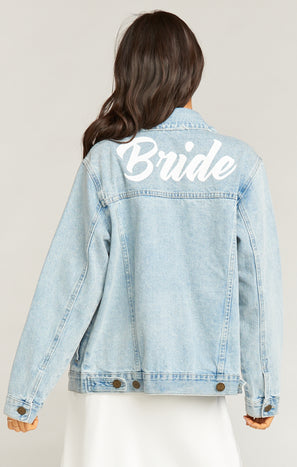 Dover Denim Jacket ~Bride Graphic