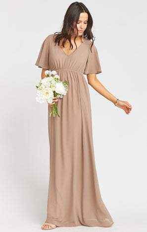 Emily Empire Maxi Dress ~ Dune Chiffon