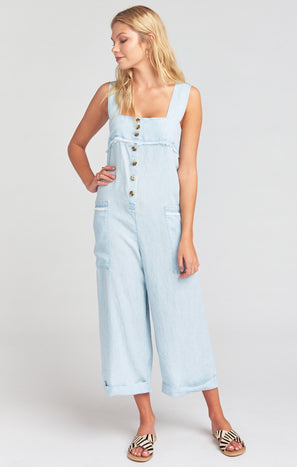 Run Around Jumpsuit ~ Shore Chambray