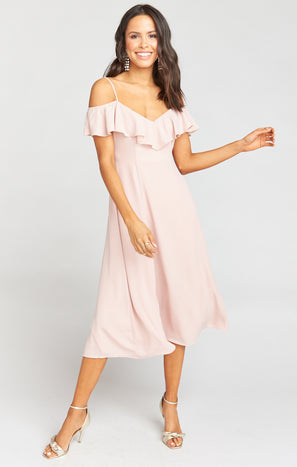 Camilla Dress ~ Dusty Blush Crisp