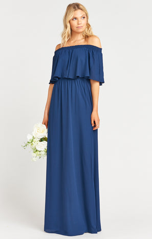 Hacienda Maxi Dress ~ Rich Navy Crisp