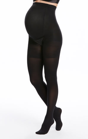 Mama Mid Thigh Shaping Tights ~ Very Black